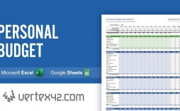 004 Incredible Personal Spending Excel Template High Resolution  Best Budget Planner Free Finance