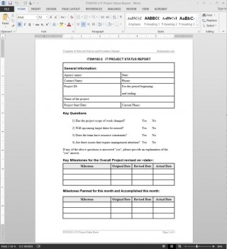 004 Incredible Project Management Weekly Statu Report Sample  Template Excel Agile320