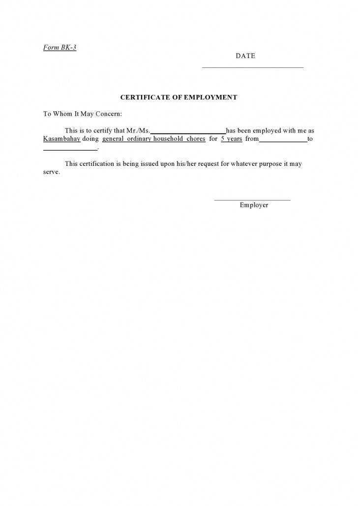 004 Incredible Proof Of Employment Letter Template Canada High Definition  Confirmation728