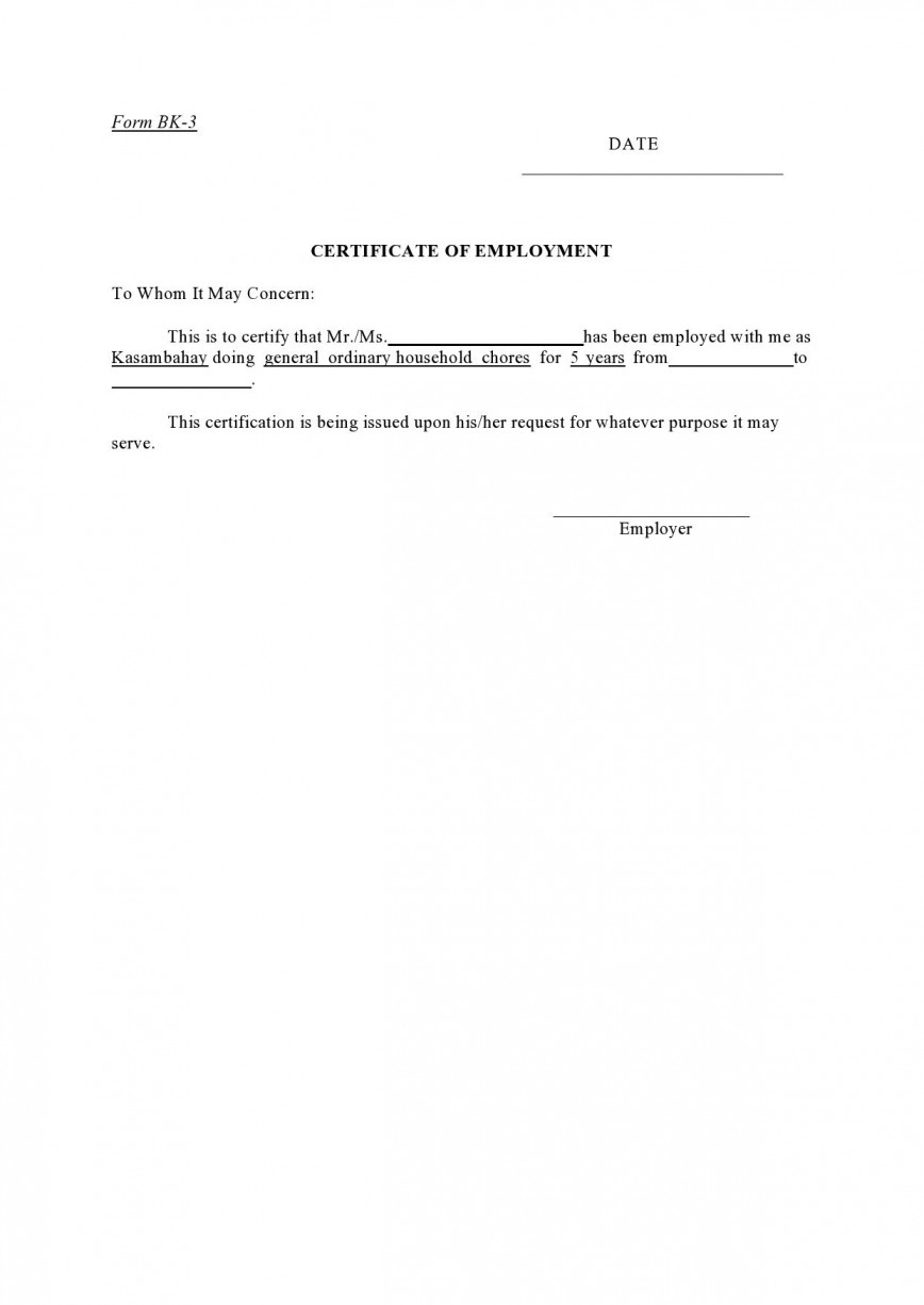 004 Incredible Proof Of Employment Letter Template Canada High Definition  Confirmation868