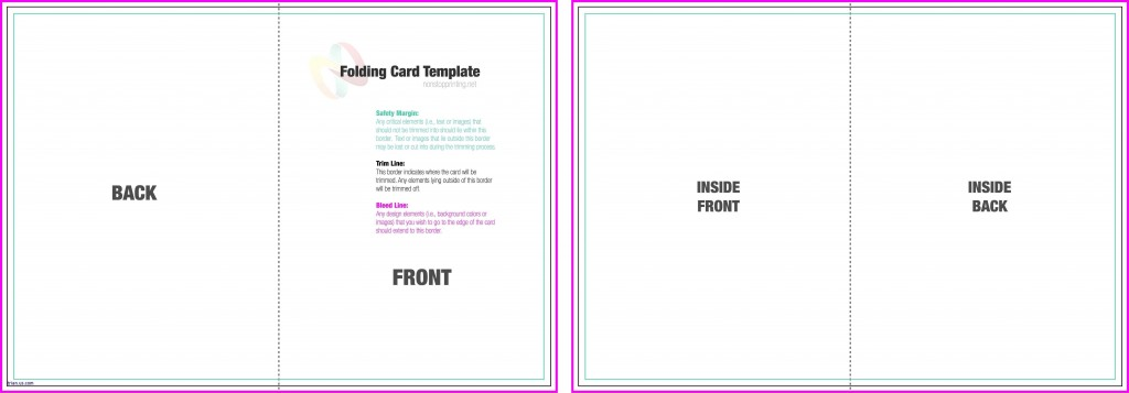 004 Incredible Quarter Fold Card Template Word Blank Highest Clarity Large
