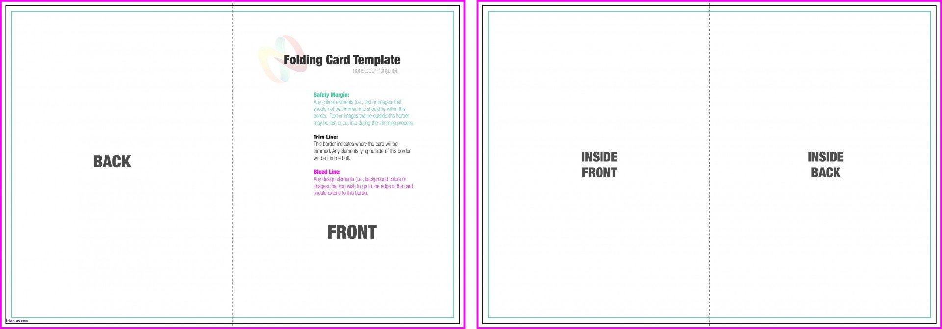 004 Incredible Quarter Fold Card Template Word Blank Highest Clarity 1920