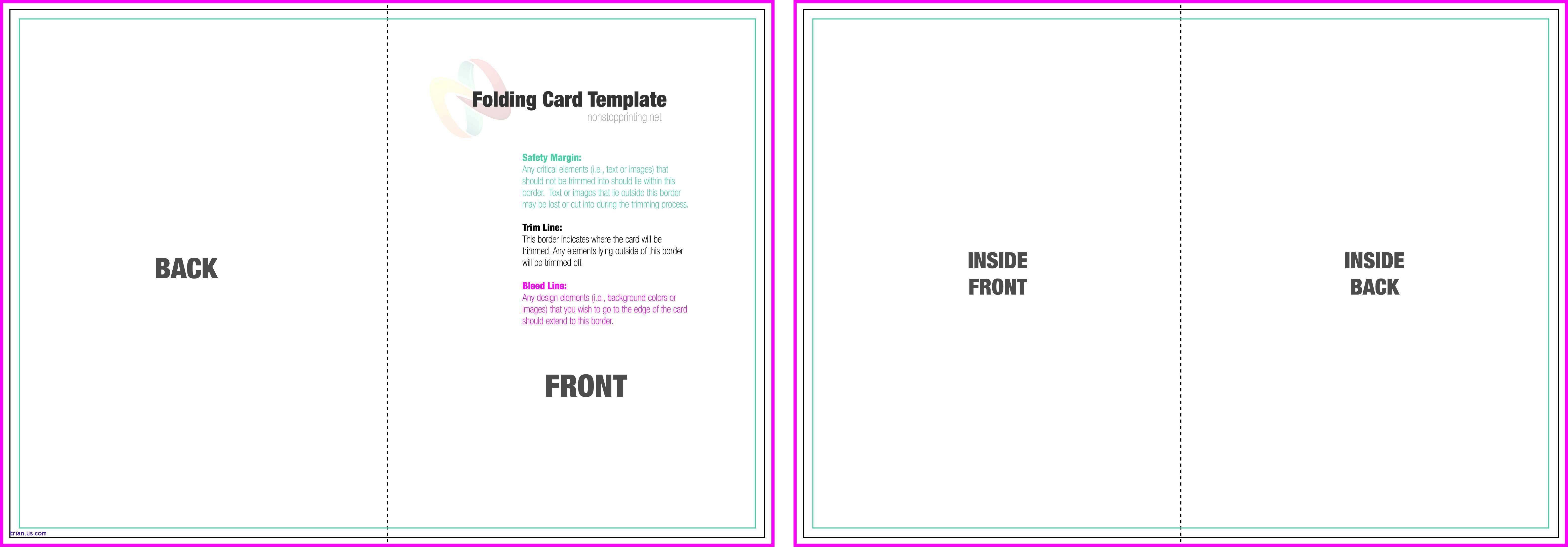004 Incredible Quarter Fold Card Template Word Blank Highest Clarity Full