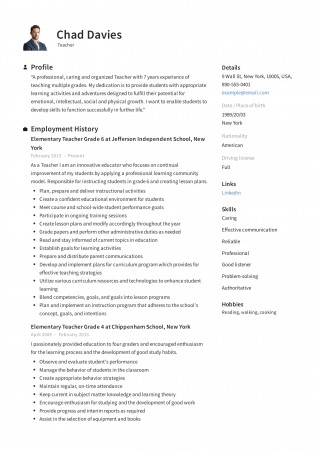 004 Incredible Resume Example For Teaching Job High Def  Sample Position In College Format320