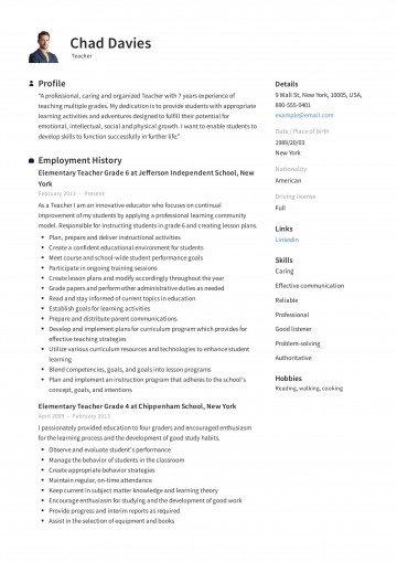 004 Incredible Resume Example For Teaching Job High Def  Sample Position In College Format360