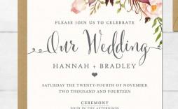004 Incredible Sample Wedding Invitation Template  Templates Wording Card