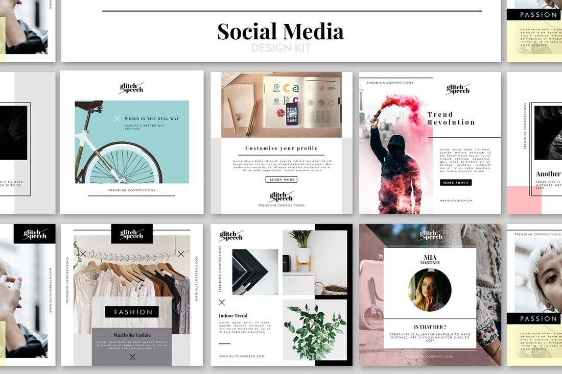 004 Incredible Social Media Web Template Concept  Templates Best Website Free DownloadFull