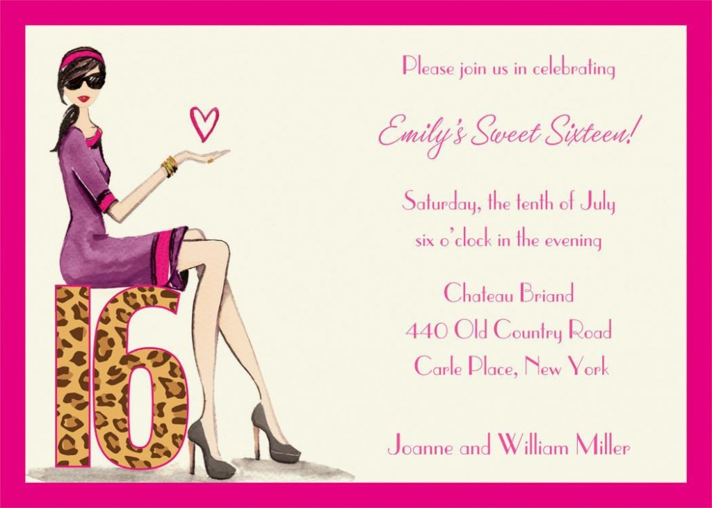 004 Incredible Sweet 16 Invite Template Highest Quality  Templates Surprise Party Invitation Birthday Free 16thLarge