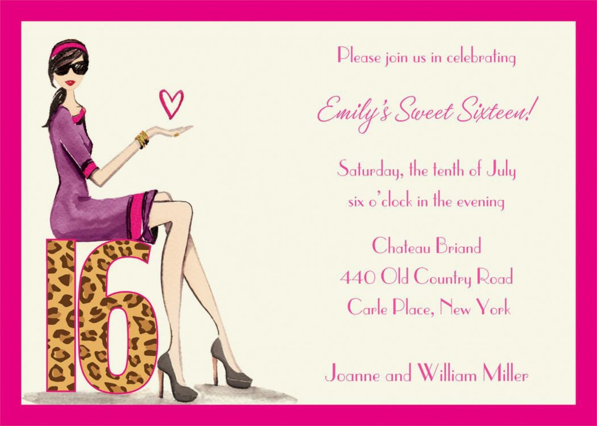 004 Incredible Sweet 16 Invite Template Highest Quality  Templates Surprise Party Invitation Birthday Free 16th1920
