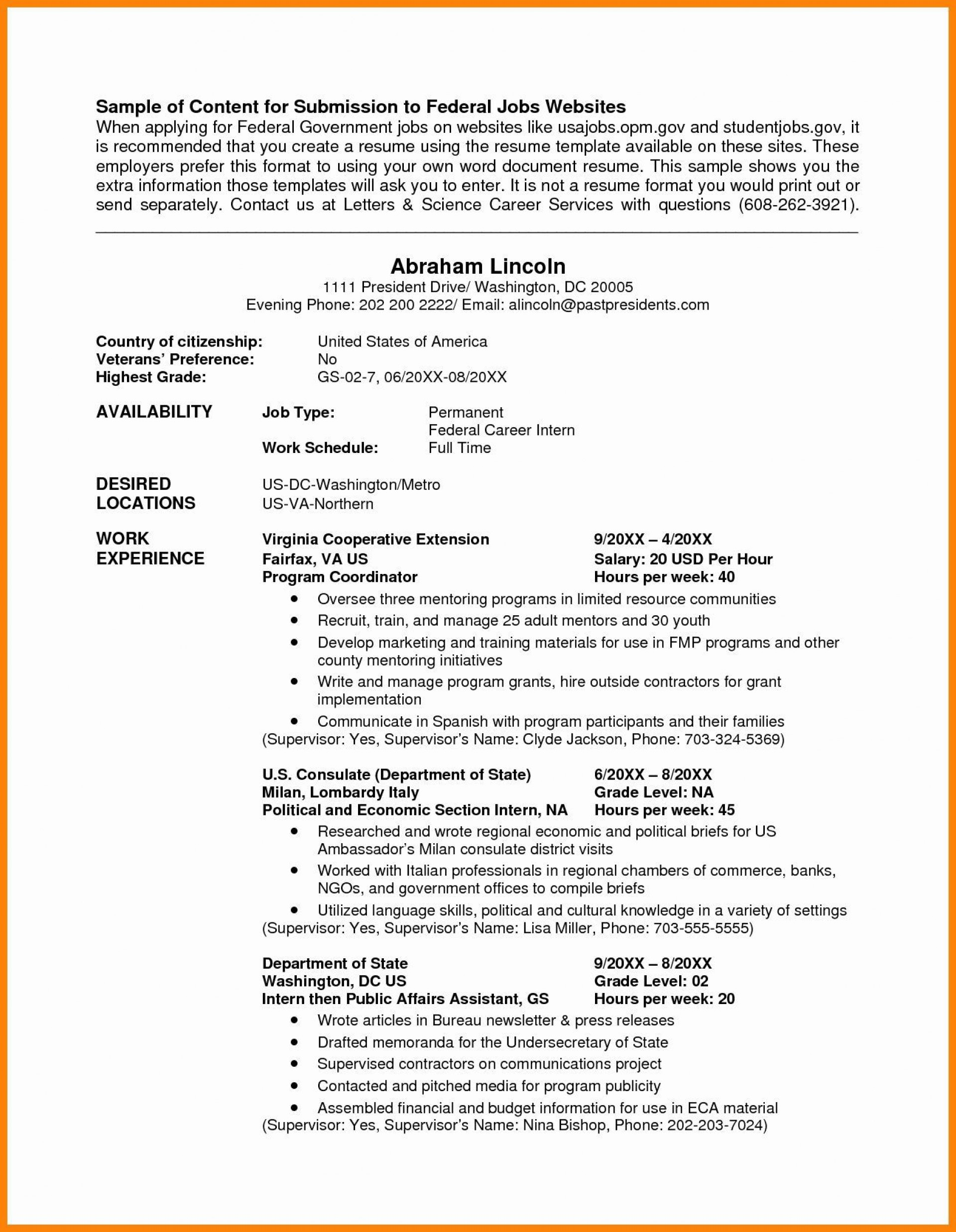 004 Incredible Usa Job Resume Template High Def  Builder Usajob Federal1920