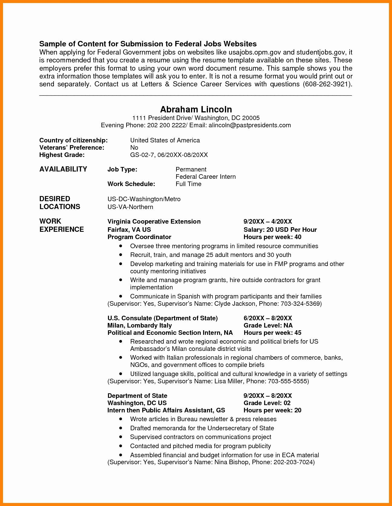 004 Incredible Usa Job Resume Template High Def  Builder Usajob FederalFull