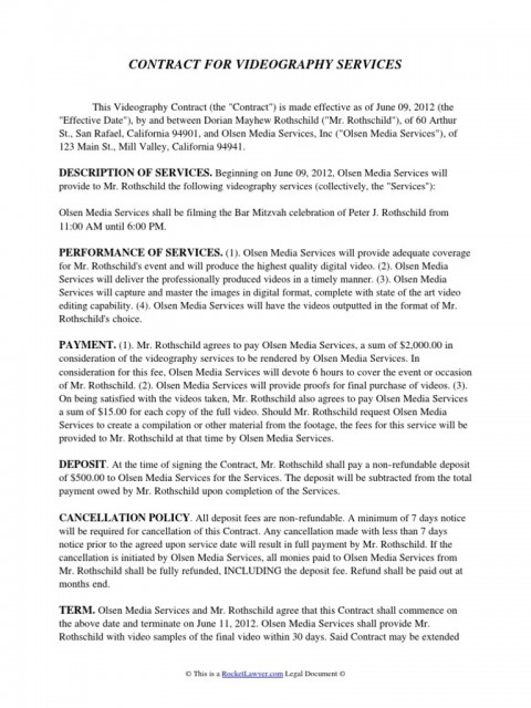 004 Incredible Wedding Videography Contract Template Highest Quality  Pdf Example Word480