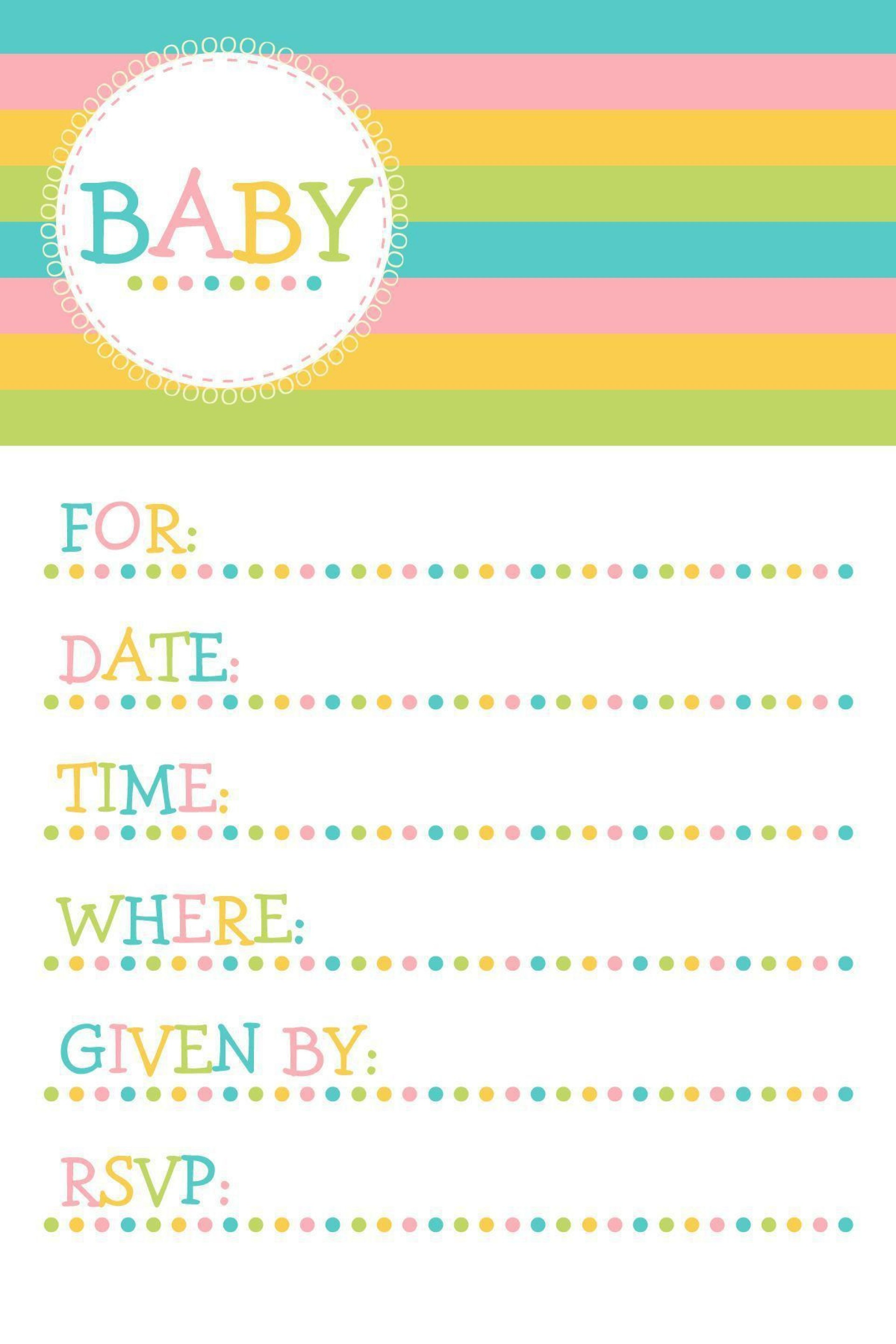 004 Magnificent Baby Shower Invitation Template Microsoft Word Photo  Free Editable1920
