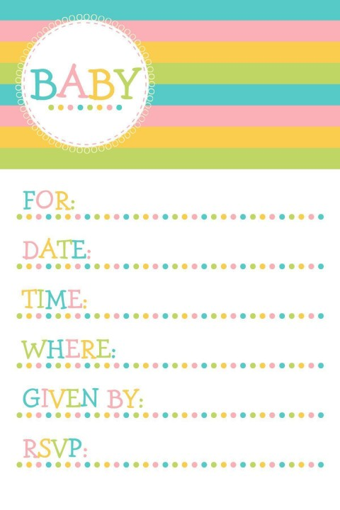 004 Magnificent Baby Shower Invitation Template Microsoft Word Photo  Free Editable480