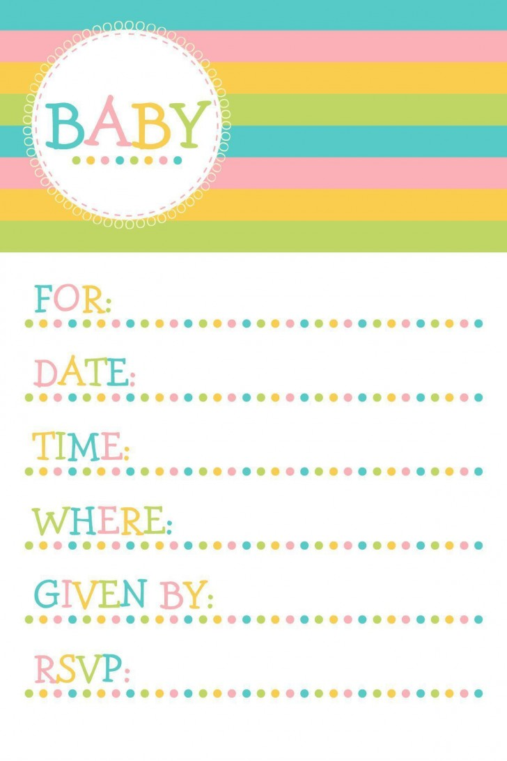 004 Magnificent Baby Shower Invitation Template Microsoft Word Photo  Free Editable728
