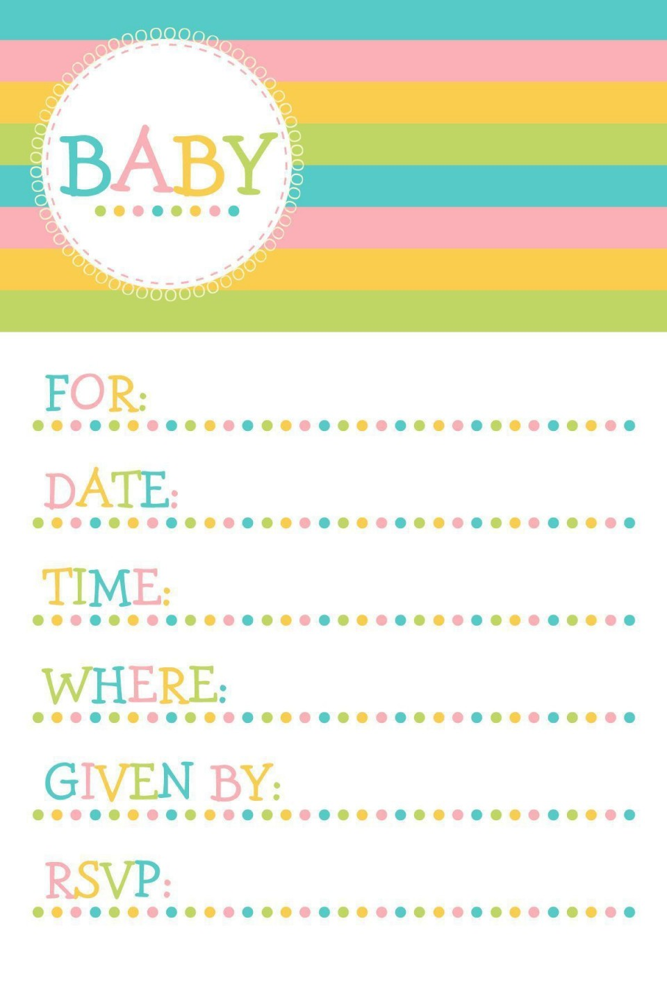 004 Magnificent Baby Shower Invitation Template Microsoft Word Photo  Free Editable960