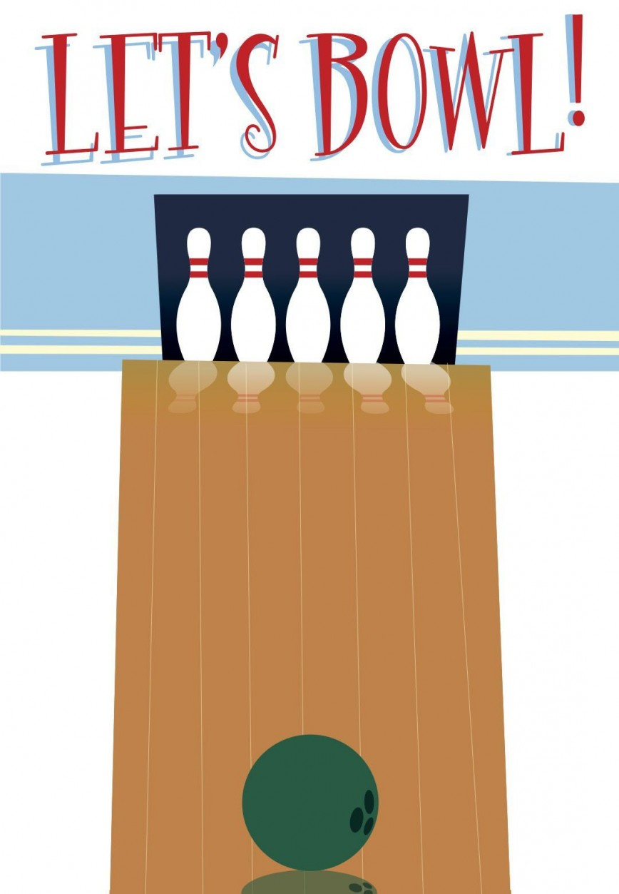 004 Magnificent Bowling Party Invite Printable Free Highest Quality  Birthday Invitation868