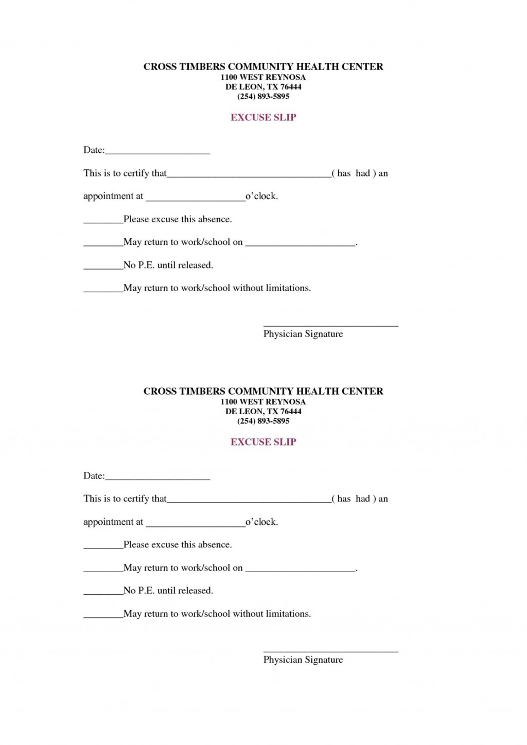 004 Magnificent Doctor Note For School Template Example  FakeLarge