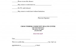 004 Magnificent Doctor Note For School Template Example  Fake