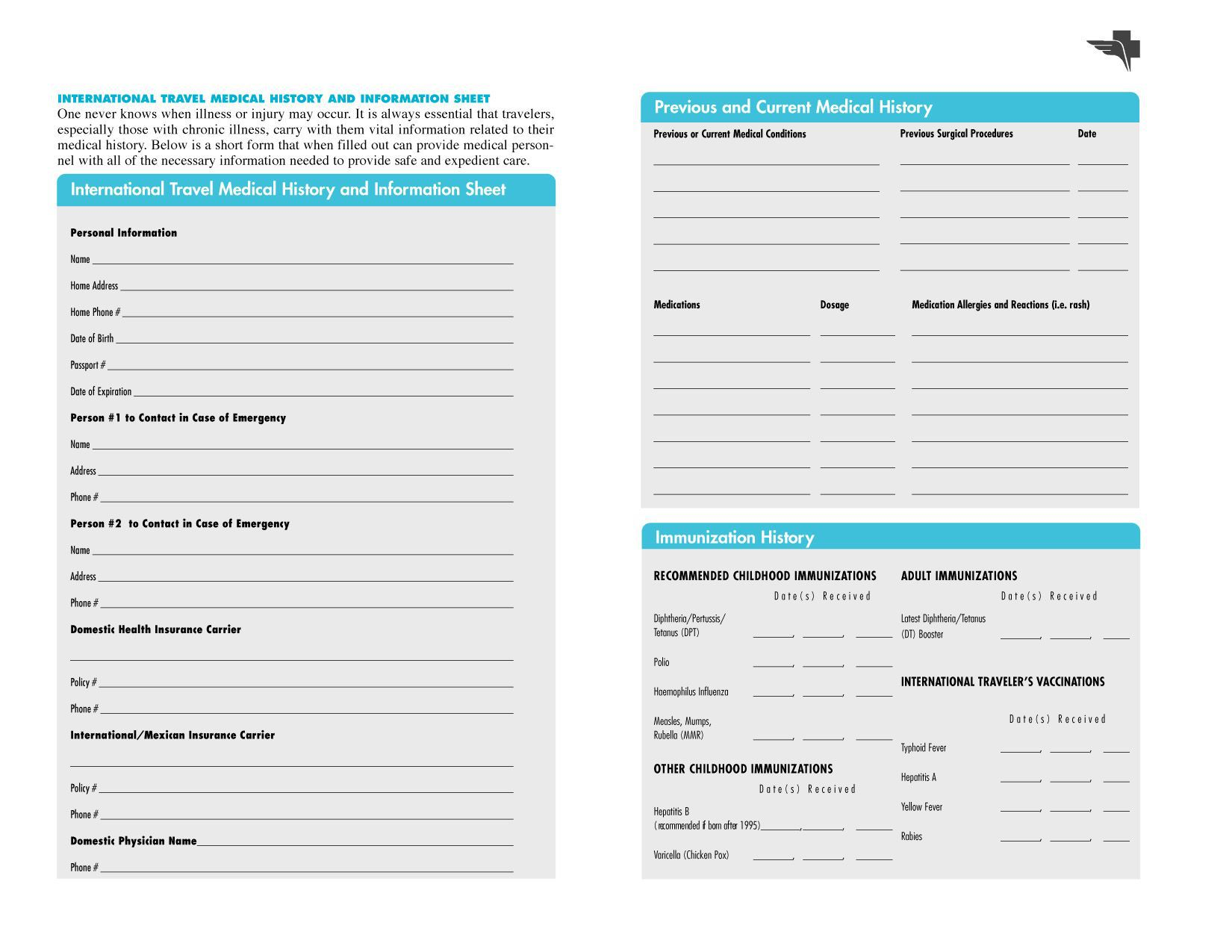 004 Magnificent Family Medical History Template High Definition  Questionnaire Free ExcelFull