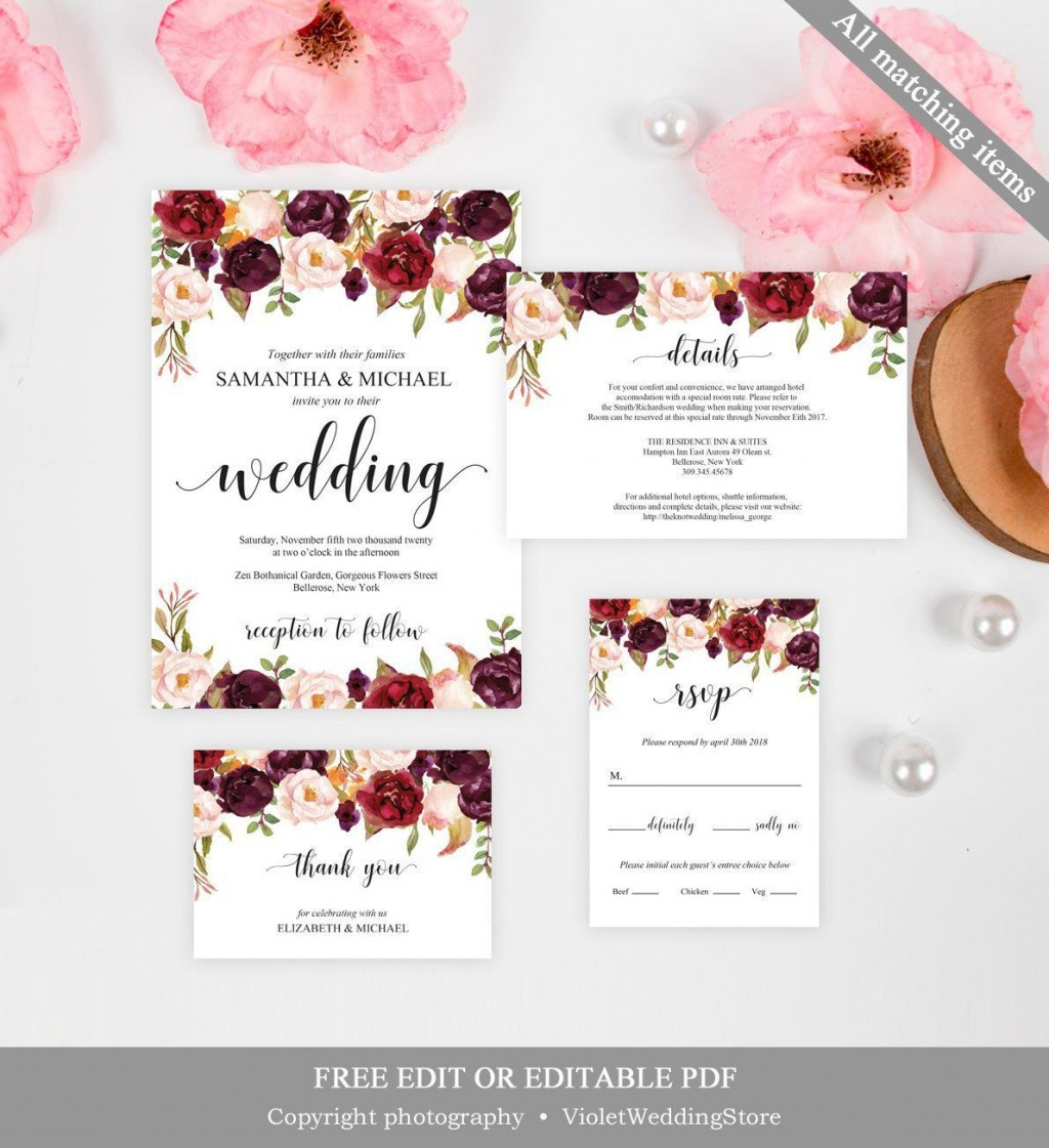 004 Magnificent Formal Wedding Invitation Template Free Inspiration Large