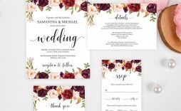 004 Magnificent Formal Wedding Invitation Template Free Inspiration
