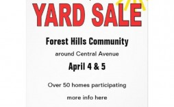 004 Magnificent Garage Sale Flyer Template Free Concept  Community Neighborhood Yard