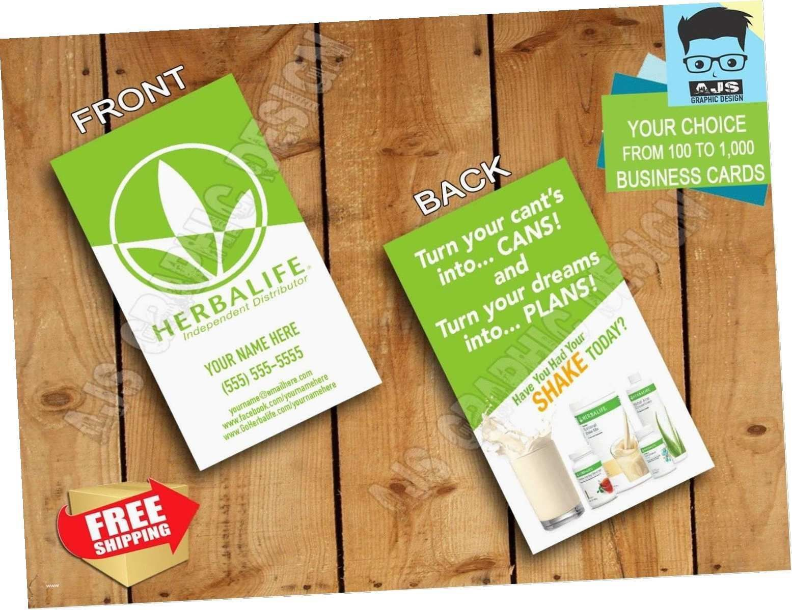 004 Magnificent Herbalife Busines Card Template Example  Download FreeFull