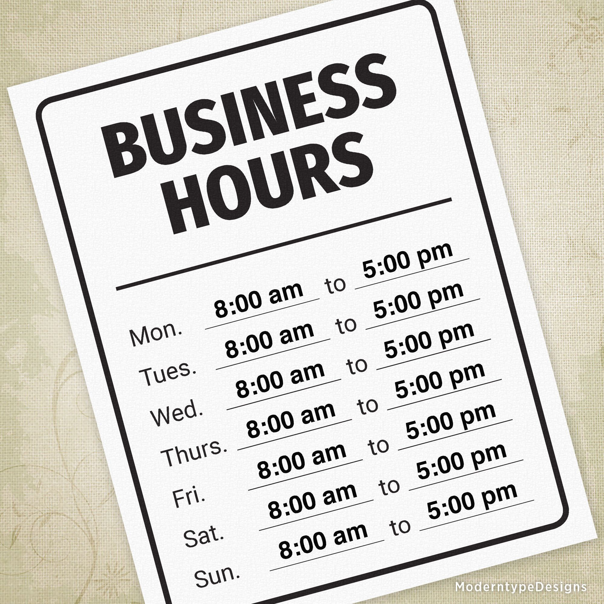 004 Magnificent Hour Of Operation Template Photo  Restaurant EmailFull