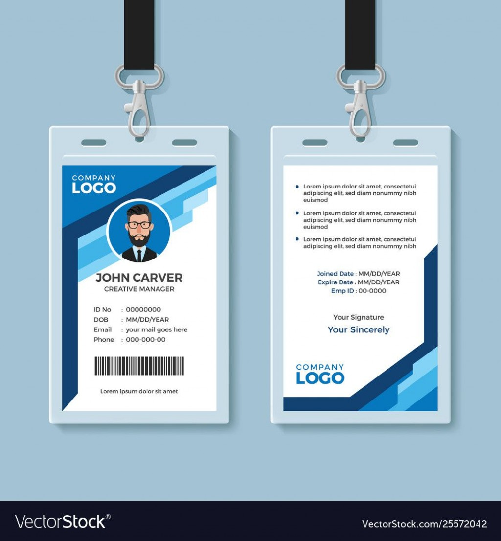 004 Magnificent Id Card Template Free Image  Download Pdf DesignLarge