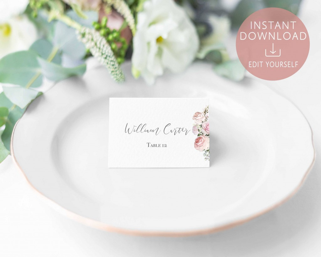 004 Magnificent Name Place Card Template For Wedding Highest Quality  Free WordLarge