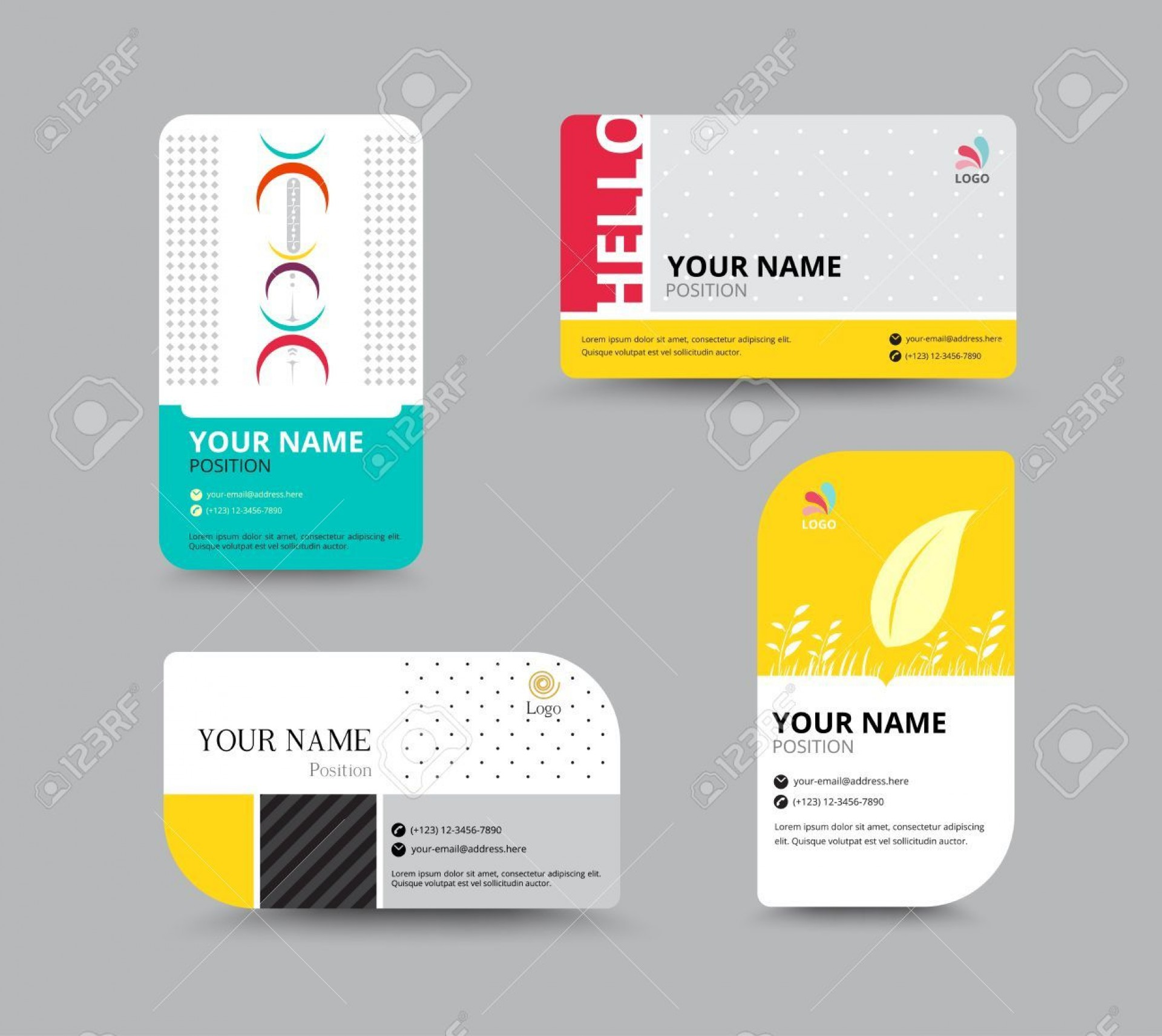 004 Magnificent Name Tag Design Template Example  Free Download Psd1920