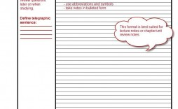 004 Magnificent Note Taking Template Pdf Concept  Free Cornell Example