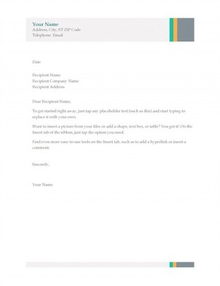 004 Magnificent Simple Letterhead Format In Word Free Download Design 320