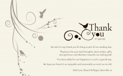004 Magnificent Thank You Note Template Wedding Money Concept  Card Example For Sample Cash Gift