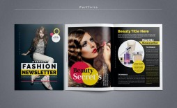 004 Marvelou Adobe Indesign Newsletter Template Free Download Highest Clarity