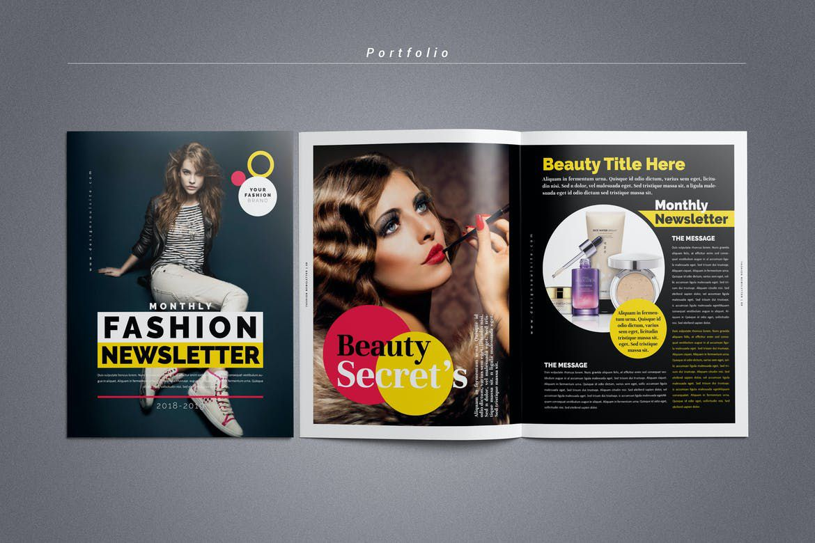 004 Marvelou Adobe Indesign Newsletter Template Free Download Highest Clarity Full