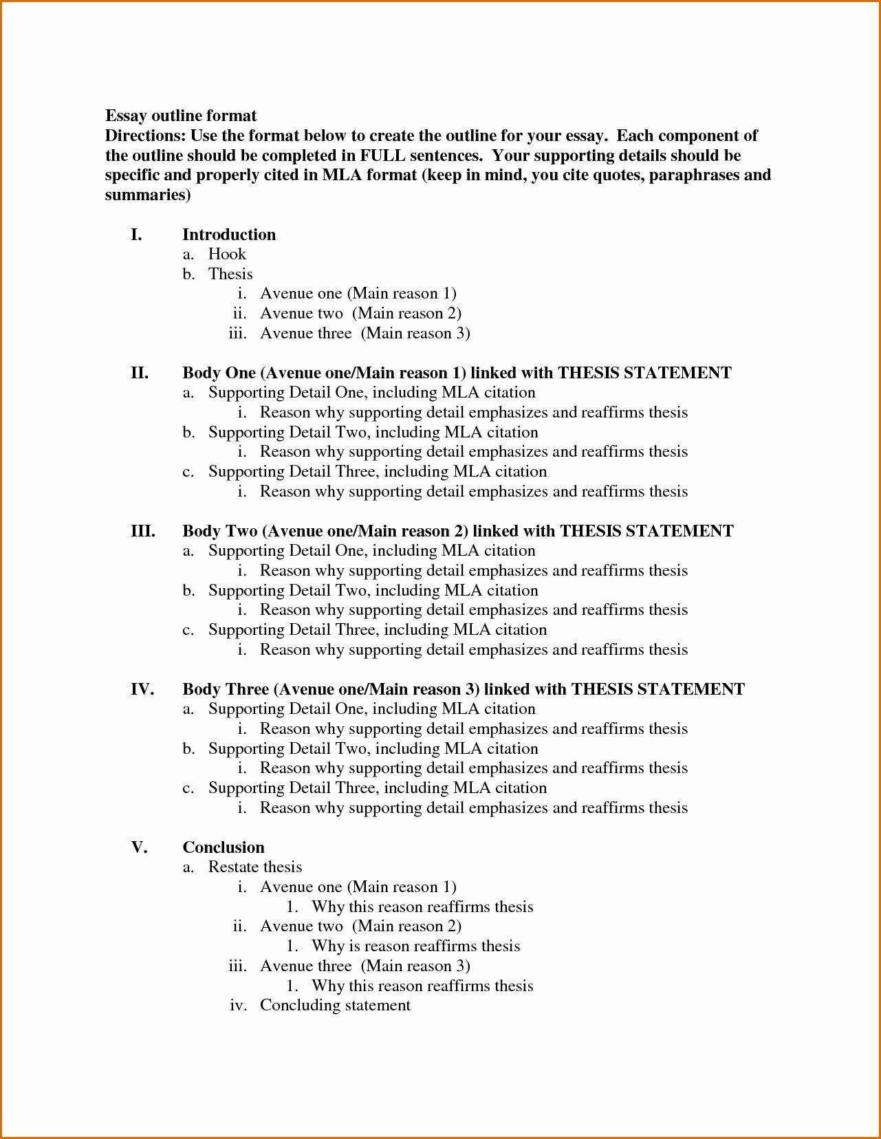 004 Marvelou Argumentative Essay Outline Template Idea  Mla Format Doc Middle SchoolFull