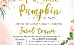 004 Marvelou Baby Shower Invitation Girl Pumpkin High Def  Pink Little