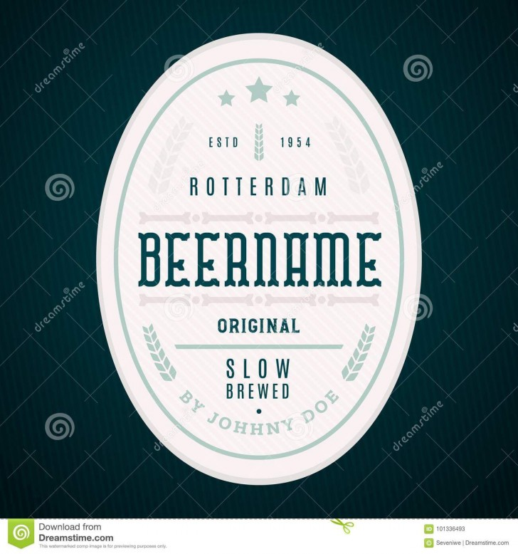 004 Marvelou Beer Label Design Template Highest Quality  Free728