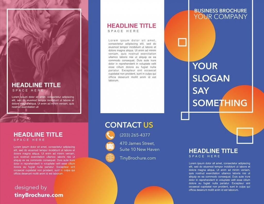 004 Marvelou Brochure Template Google Doc Design  Blank Tri Fold SlideLarge