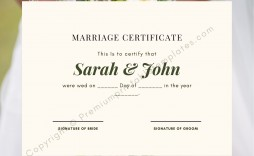 004 Marvelou Certificate Of Marriage Template Highest Quality  Word Australia