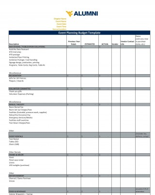004 Marvelou Event Planning Budget Template Concept  Worksheet Corporate Free320