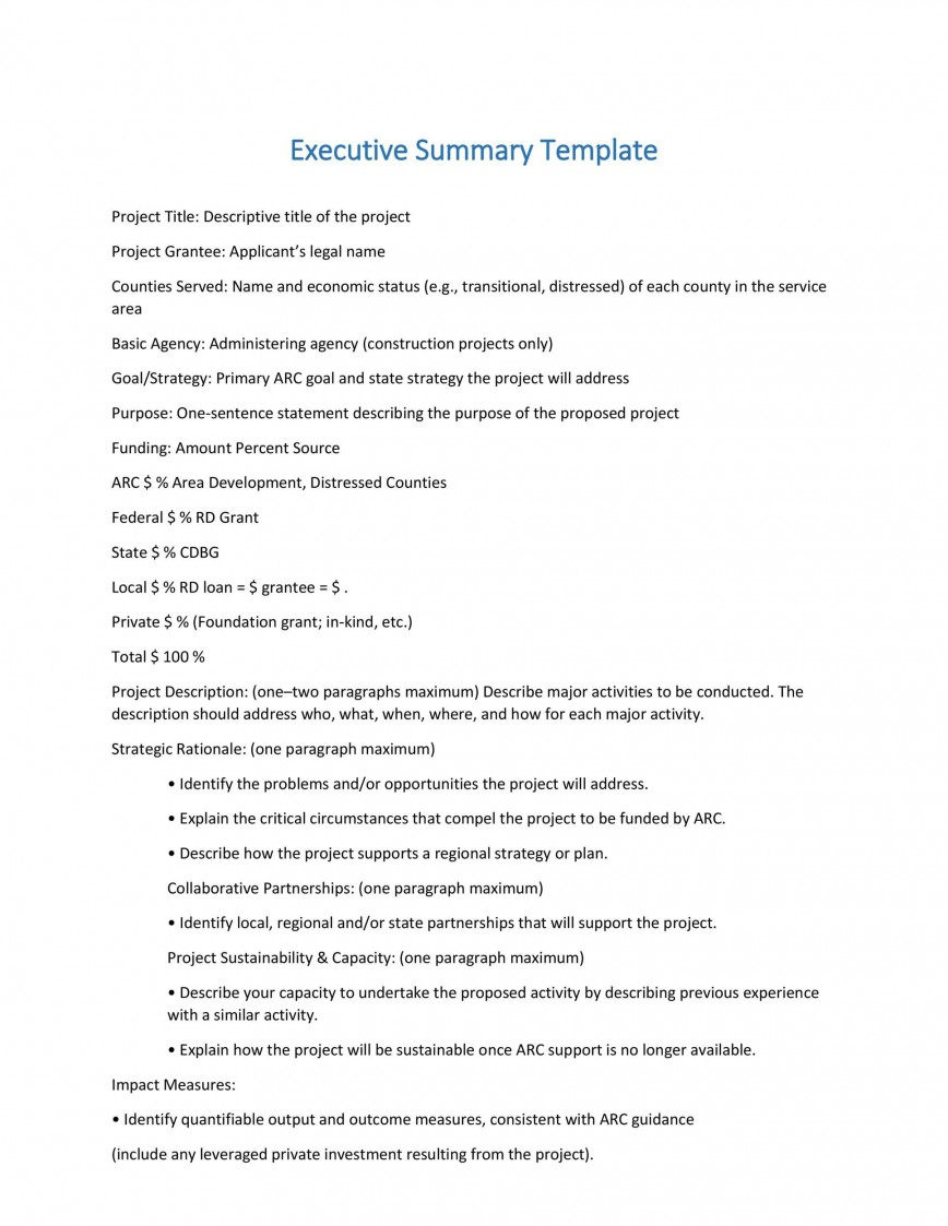 004 Marvelou Executive Summary Template Doc Highest Clarity  Example Word For Healthcare Document Sample