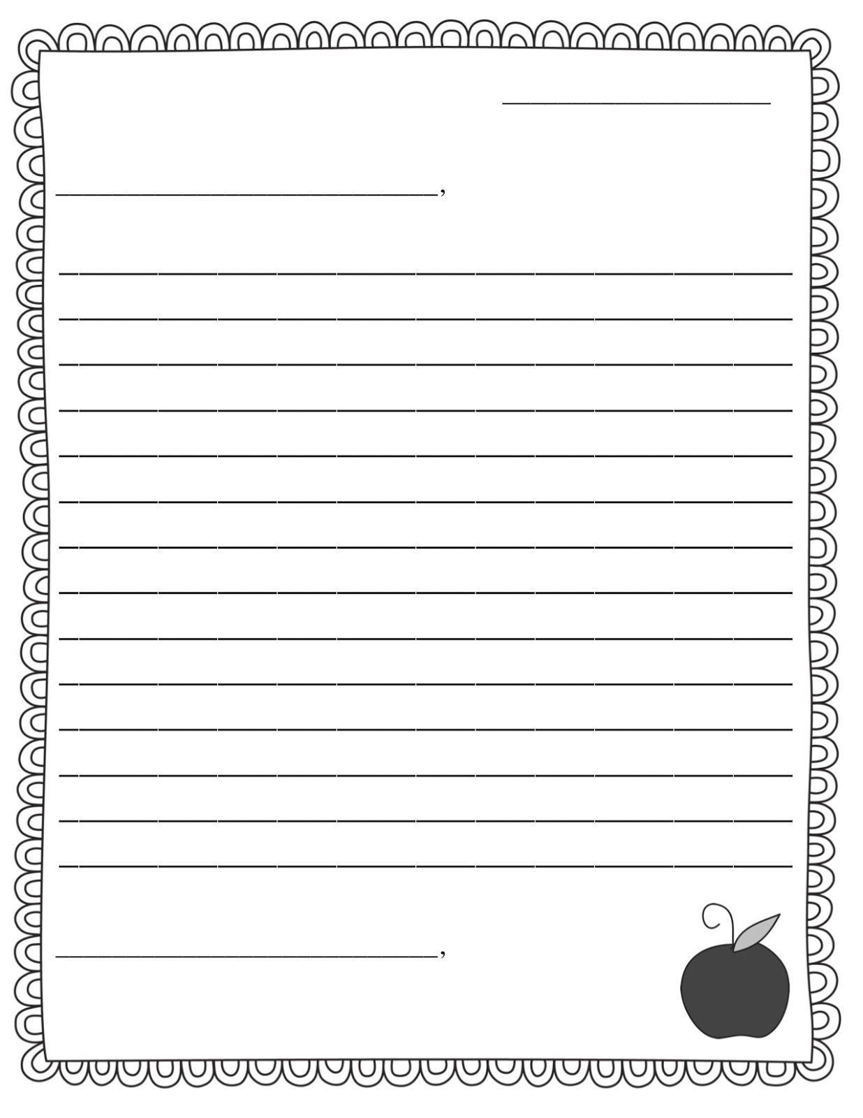 004 Marvelou Free Letter Writing Template For Student Photo  StudentsFull