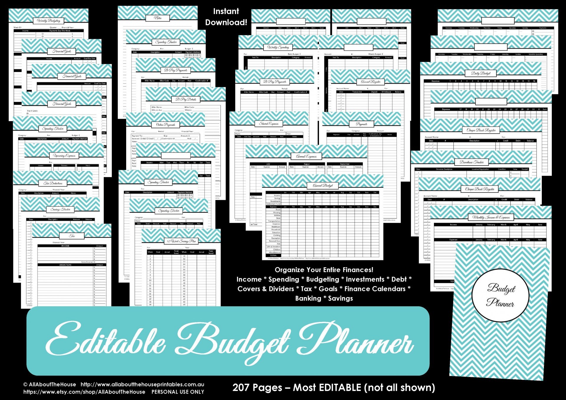004 Marvelou Free Monthly Budget Template Pdf Inspiration  Fillable Household Worksheet1920