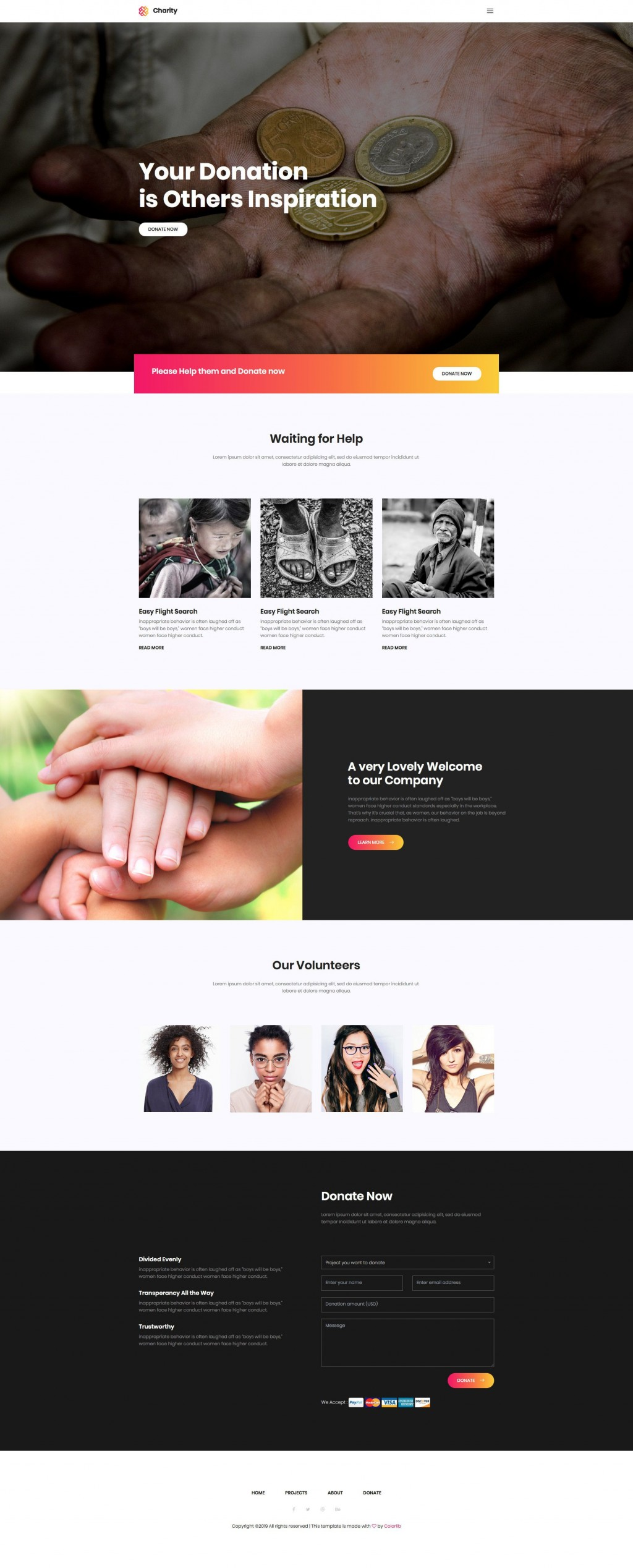 004 Marvelou Free Non Profit Website Template Photo  Templates Organization CharityLarge
