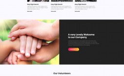 004 Marvelou Free Non Profit Website Template Photo  Templates Organization Charity
