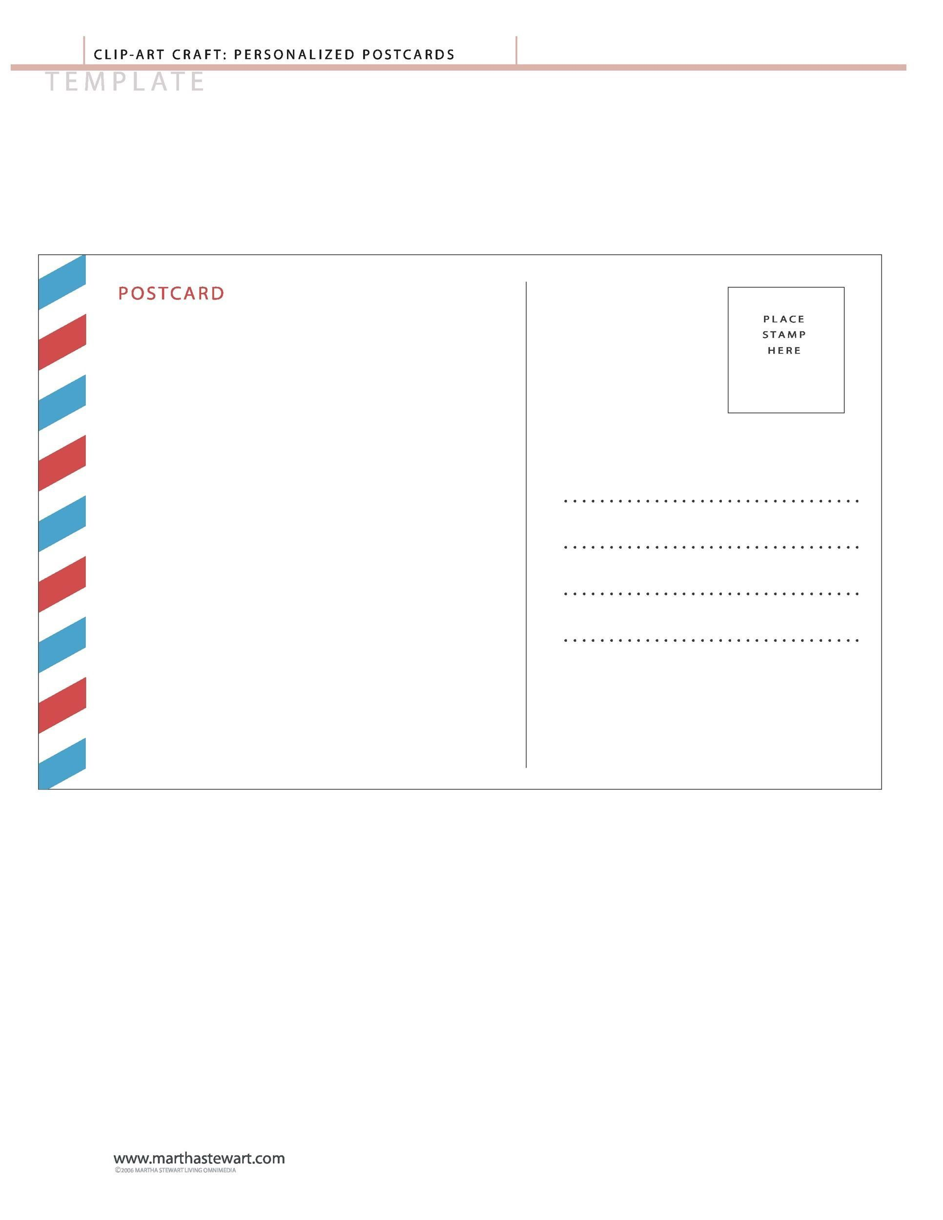 004 Marvelou Free Postcard Template Download Microsoft Word Concept Full