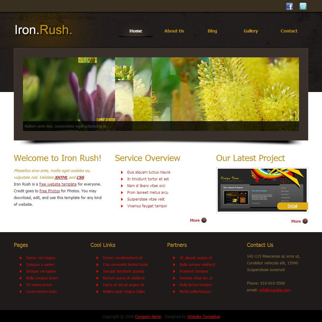004 Marvelou Free Website Template Download Html And Cs Jquery Slider Concept Full